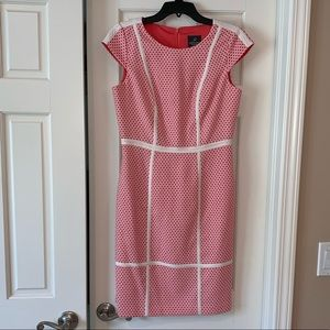 NWOT Adrianna Papell High Neck Dotted Shift Dress